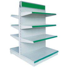 Double-side Metal Supermarket Gondola Shelf